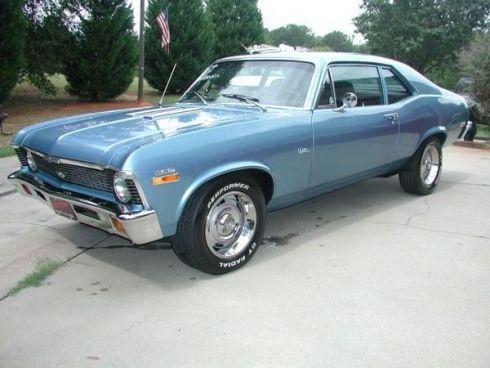 Beautifully Restored Sky Blue 72 Chevrolet Nova Musclecars