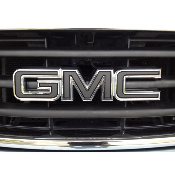 My Blacked Out Gmc Emblem New Trucks Gmc Truck Yeah