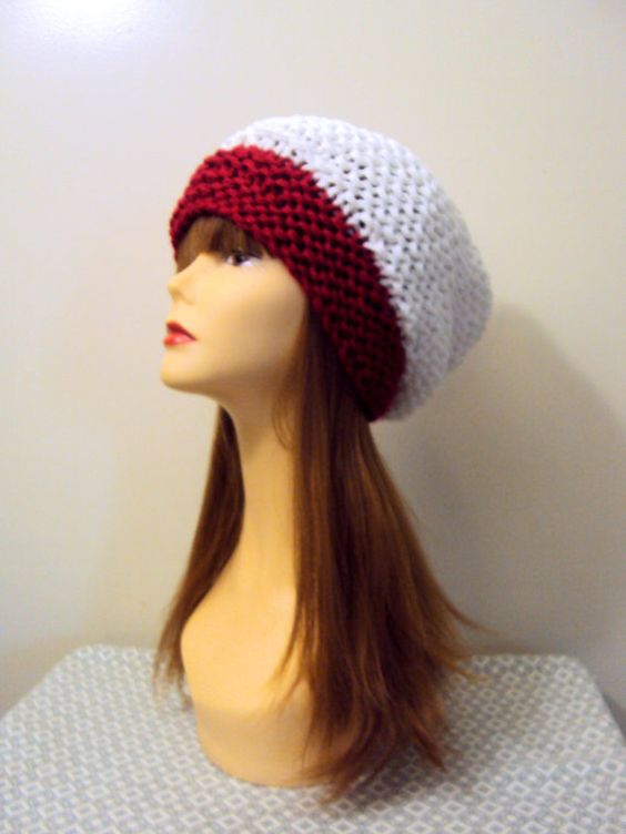 Slouchy Hat Santa Hat Beanie Christmas Hat Women's Baggy Hat Chunky Winter Hat Holiday Fashion Gift Ideas Under 50 Fashion Accessories by GrahamsBazaar