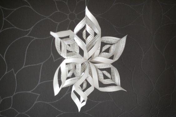 Paper Star Snowflake #diy