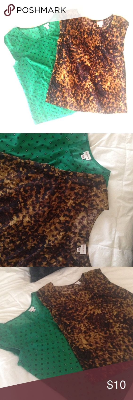 Short sleeve blouses Lightly worn (3 or 4 times). Short sleeve Merona blouses from Target. Merona Tops Blouses