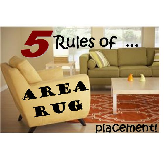 5 rules of area rug placement home decor pinterest - Proper rug placement in living room ...