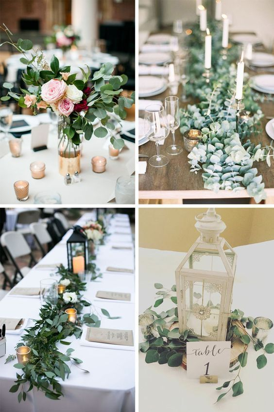 30 Greenery Wedding Ideas That Are Actually Gorgeous Wedding Reception With Greeneryand Wedding Table Centerpieces Wedding Centerpieces Wedding Decorations