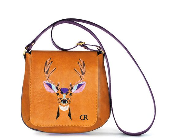 Ludevika Light-Brown Deer  real leather by RodriguezHandbags