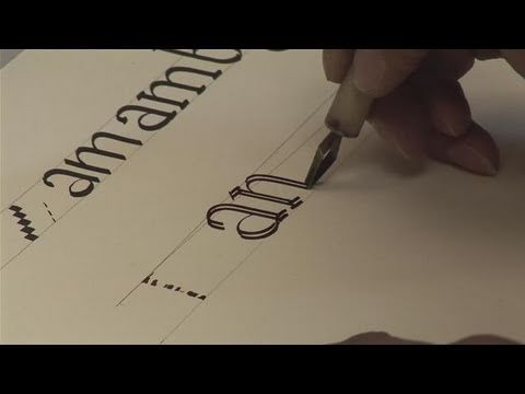 Videos Calligraphy And Calligraphy Lessons On Pinterest