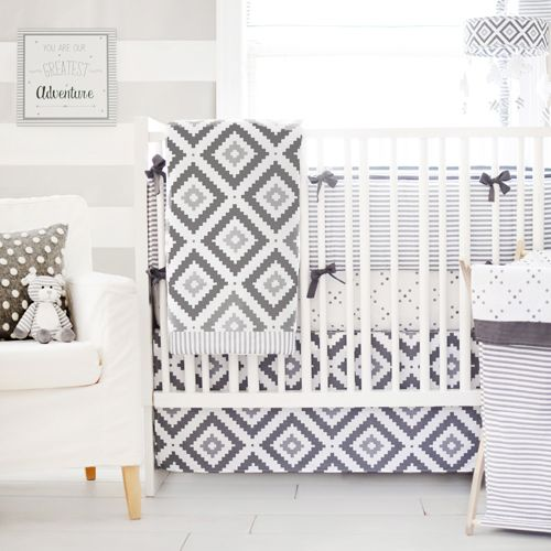 This fun gray baby bedding is perfect for a neutral nursery! This gray baby bedding is from our My Baby Sam Imagine Crib Bedding Set