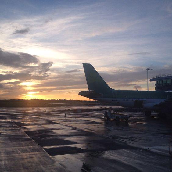 Sunset in Dublin airport