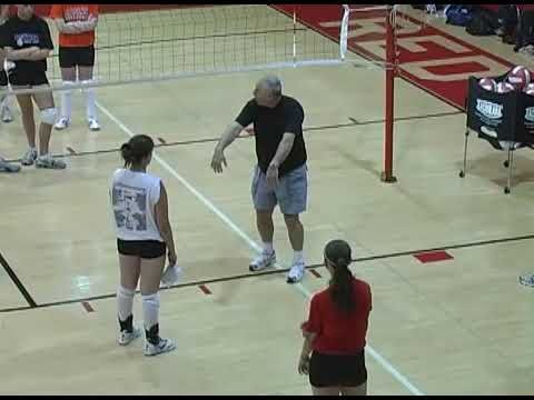 Put Pressure On Players With Last Attack Drill The Art Of Coaching Volleyball Coaching Volleyball Volleyball Skills Drill