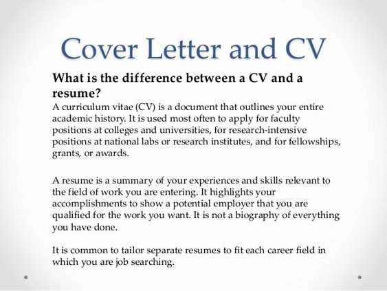 Difference Between A Cover Letter And A Resume Best Of Vari Job Hunting 101 For Postdoctoral Fellows Curriculum Vitae Job Resume Samples Lettering