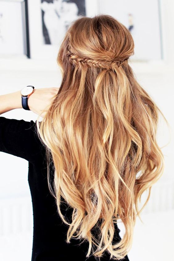 70 Amazing Braid Hairstyles For Party And Holidays Long Hair Styles Hair Styles Natural Wavy Hair