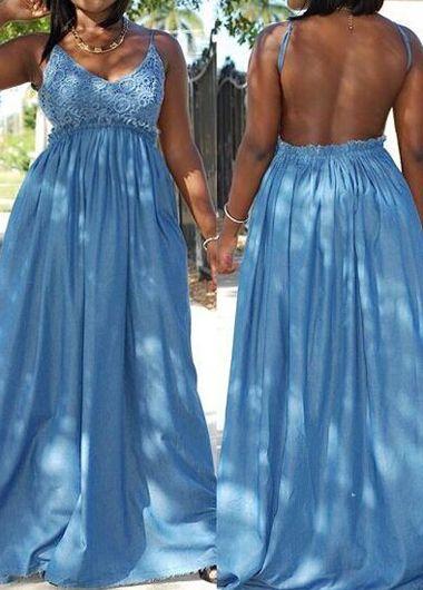 n style dresses blue