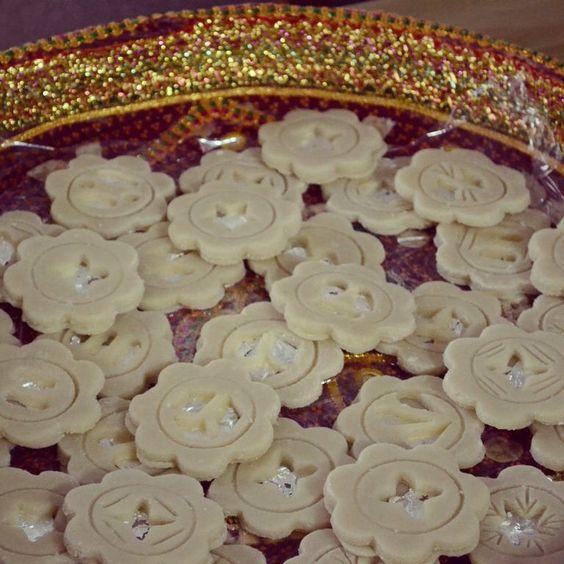 Badaam ke jaaliyaan - almond and edible silver sweets