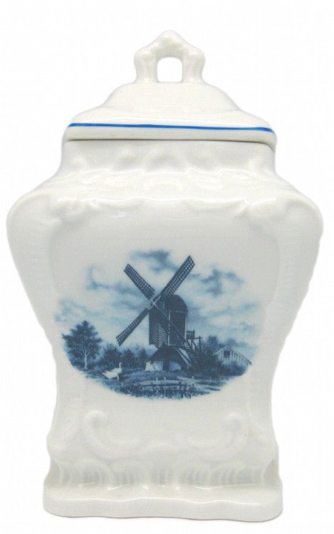 Blue Delft Hand Painted Holland Coffee Tea Sugar Containers