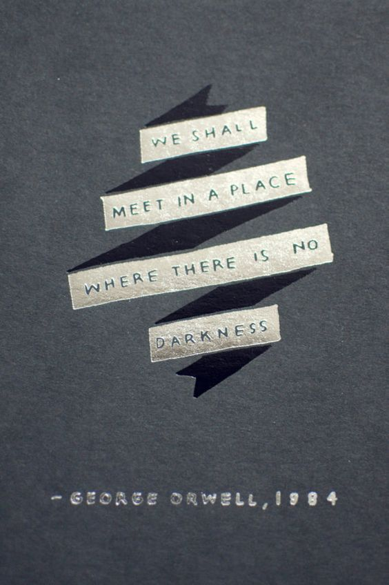 Darkness Series 1984 George Orwell Quote 5x7 by PianissimoPress
