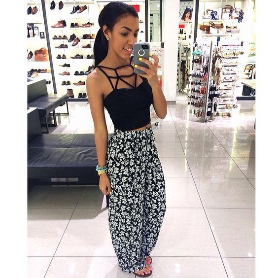 Summer dress pants black