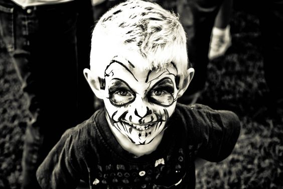 face paint - creepy