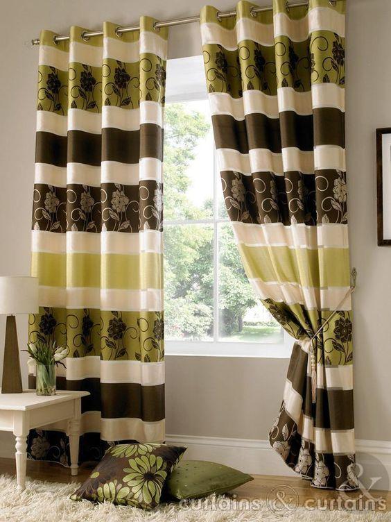 Green Curtains chocolate and green curtains : Jasmine Chocolate Brown Taffeta Eyelet Curtain - Curtains UK $56 ...