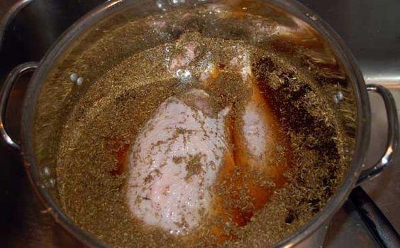 salmoura de frango