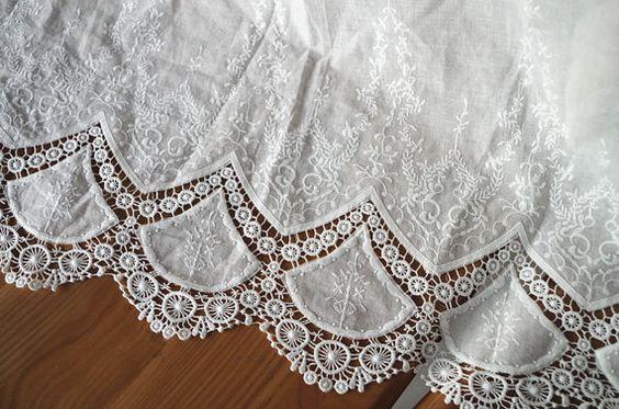 tessuto di pizzo di cotone con scavato floreale di WeddingbySophie