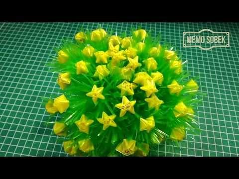 Cara Membuat Bunga Hias Dari Sedotan Pipet Youtube Bunga