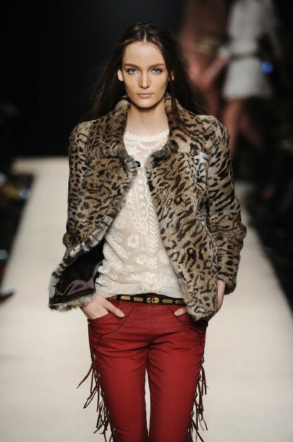 Trend: Seeing Spots: Isabel Marant Fall Winter 2012 2013. I have a faux leopard fur just like that