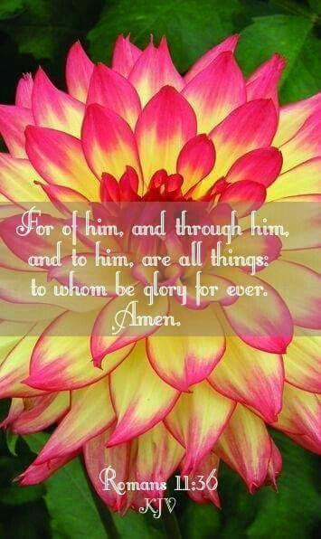 Romans 11:36 KJV: