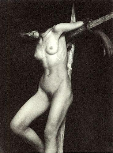 Nude crucified women