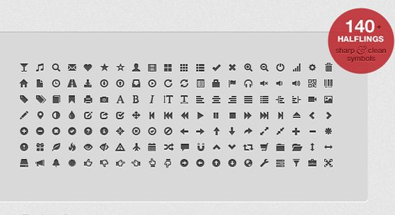 GLYPHICONS is a library of precisely prepared monochromatic icons and symbols, created with an emphasis on simplicity and easy orientation. You get 400 small PNGs for free.
