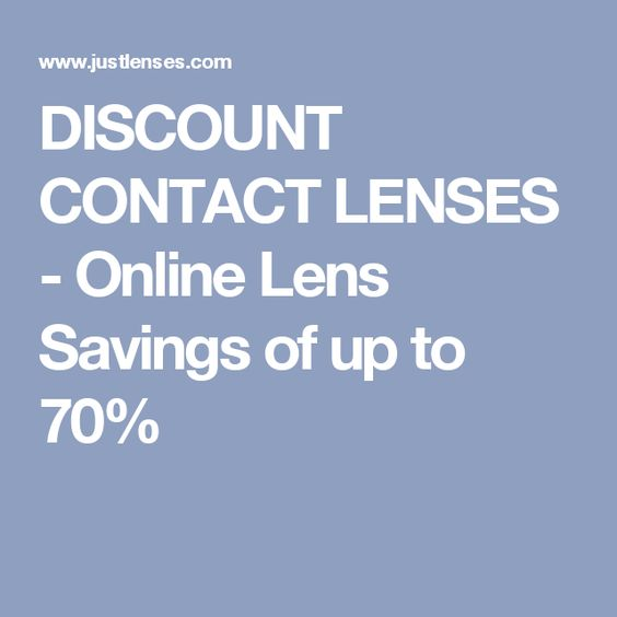 DISCOUNT CONTACT LENSES - Online Lens Savings of up to 70%