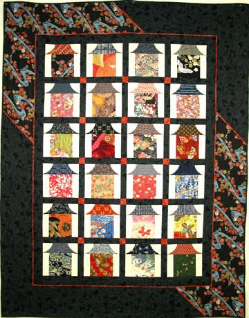 Sheila Derose Quilt Patterns Japanese Houses Japanese Quilt