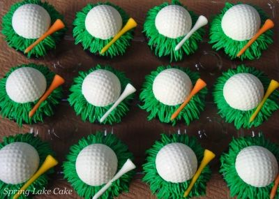 golf cupcakes By springlakecake on CakeCentral.com