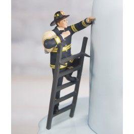 Firefighter Groom and Bride Wedding Cake Topper Set