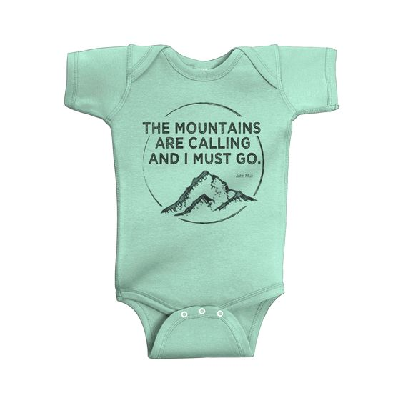 "Little ""EO"" Mountains Calling Onesie"