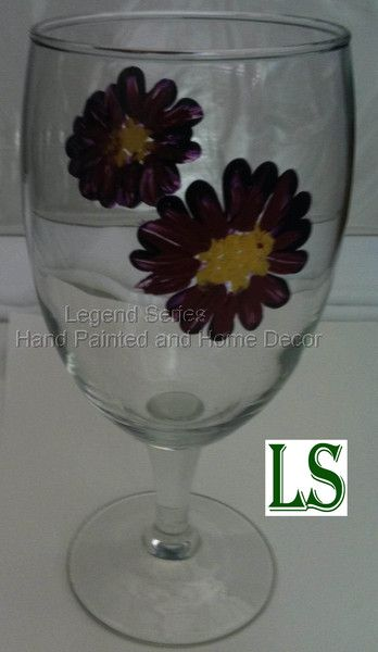 Hand Painted Wine Glass