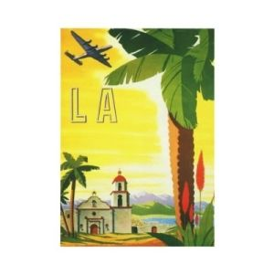 vintage travel poster by janice