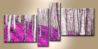 Lienzo con bastidor bosque morado i de cuadros de paisajes for Cuadros en bastidor