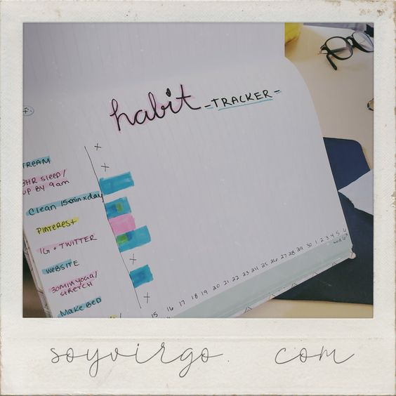 soyvirgo.com bujo - habit tracker - 10 ways to be happy during a pandemic