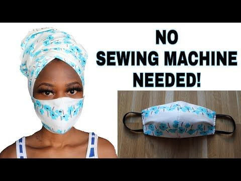 Diy Face Mask No Sewing Machine No Sew How To Make A