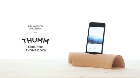Thumm Acoustic iPhone Dock - The Natural Amplifier