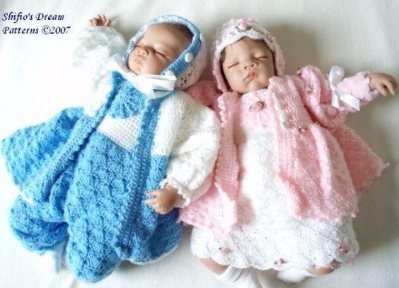 Crochet Pattern Baby Dungarees : Baby Crochet Pattern Dress, jacket, Dungarees, Hat Crochet ...