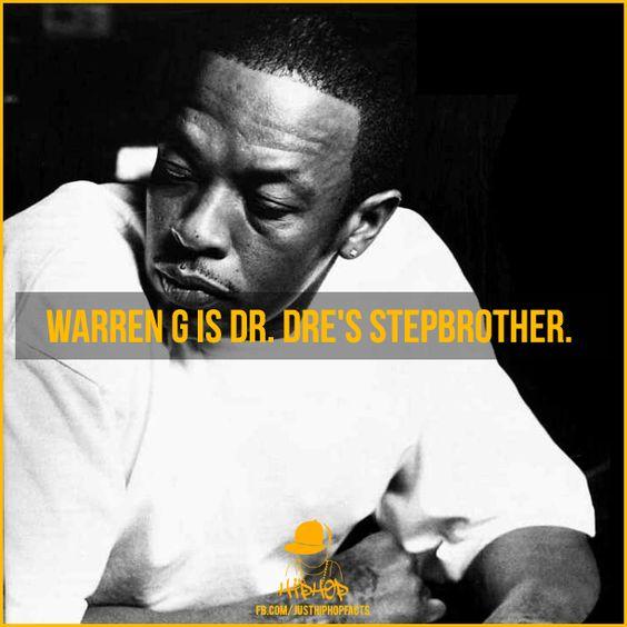 Warren G is Dr. Dre's stepbrother. #Facts #DrDre #WarrenG