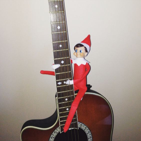 Our elf has some groovy carols!