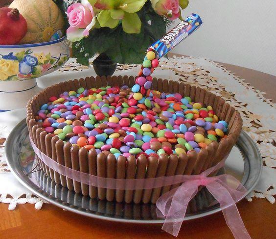 cake gravity g teau anniversaire suspendu fingers smarties. Black Bedroom Furniture Sets. Home Design Ideas