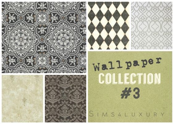 Wallpaper collection #3 at Sims4 Luxury via Sims 4 Updates