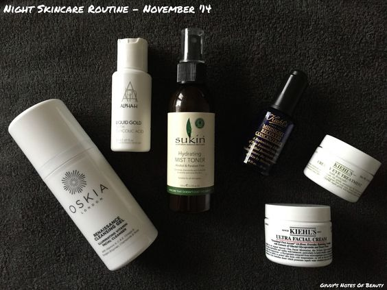 My current night skincare routine | Gyudy's Notes Of Beauty
