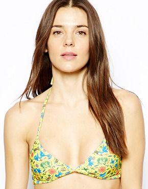 ASOS Multi Colour Ditsy Strappy Triangle Bikini