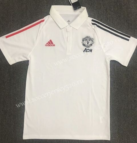 2020 2021 Manchester United White Polo Shirt 803 In 2020 White Polo Shirt Manchester United Polo Shirt