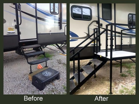 Portable Rv Deck : Portable rv steps decks and porches for th wheels