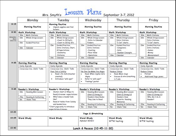 Weekly Lesson Plan Template Weekly lesson plan template, Lesson - lesson plan template for word