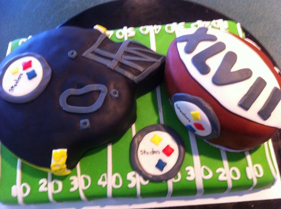 Super Bowl party cake